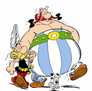 "Asterix and his ""big-boned"" friend Obelix"